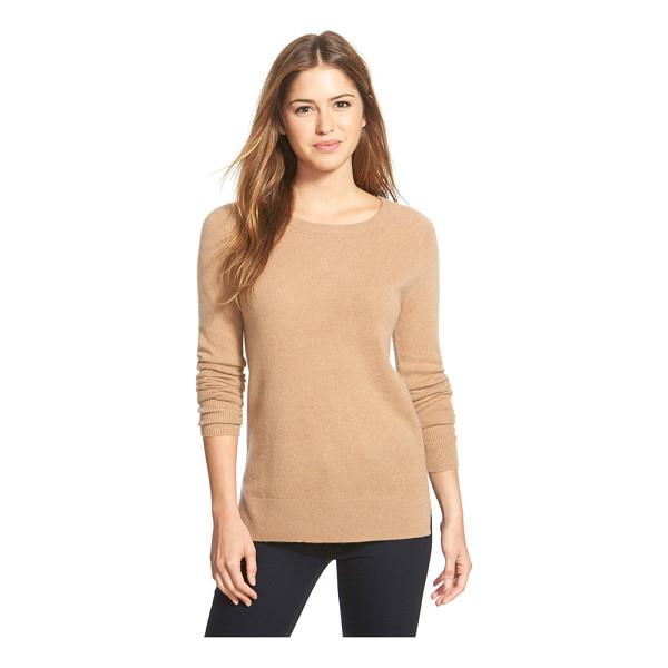 HALOGEN Halogen crewneck lightweight cashmere sweater - In a color to suit every mood and outfit, a slim-fitting...