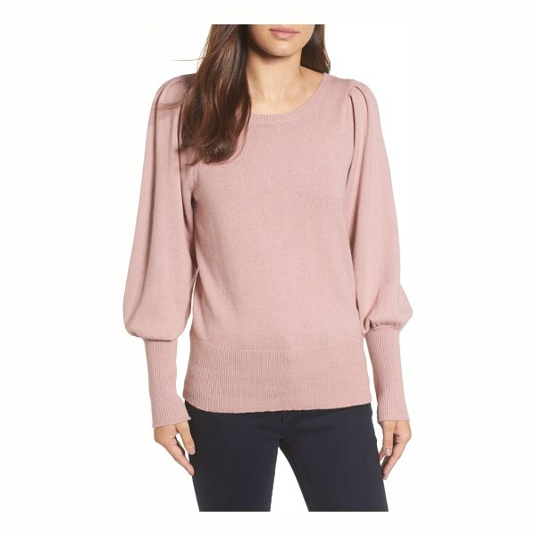 HALOGEN halogen bateau neck blouson sleeve sweater - This cashmere-kissed pullover boasts a Victorian vibe with...