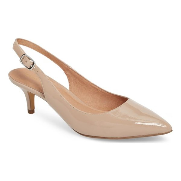 HALOGEN halogen elyse slingback pump - A poised kitten heel lends just-right height to a...