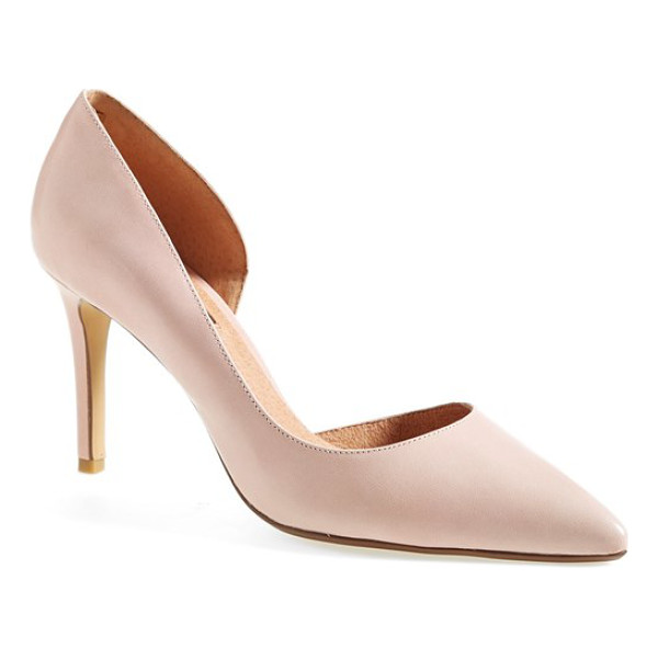 HALOGEN marlie pointy toe pump - An exquisitely feminine half d'Orsay pump flaunts a pointed...