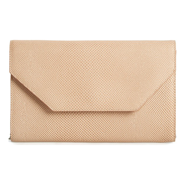 HALOGEN Halogen angled leather day clutch - It's all about the angles on a mod envelope clutch with a...
