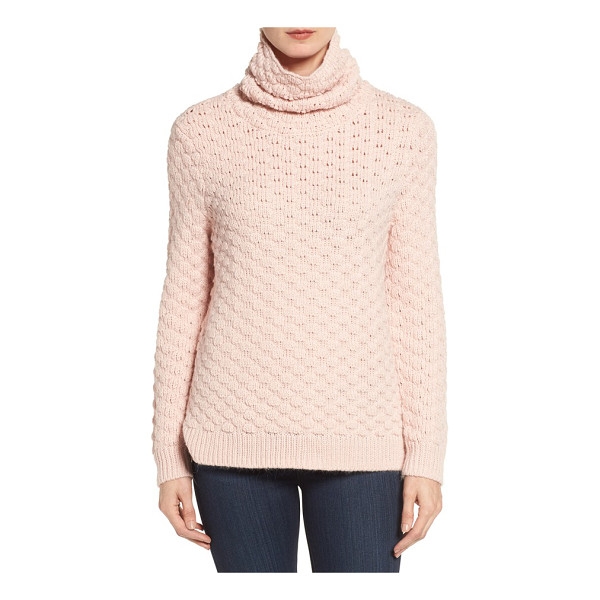 HALOGEN Halogen bubble stitch sweater - A relaxed turtleneck keeps you super-cozy in a thick knit...
