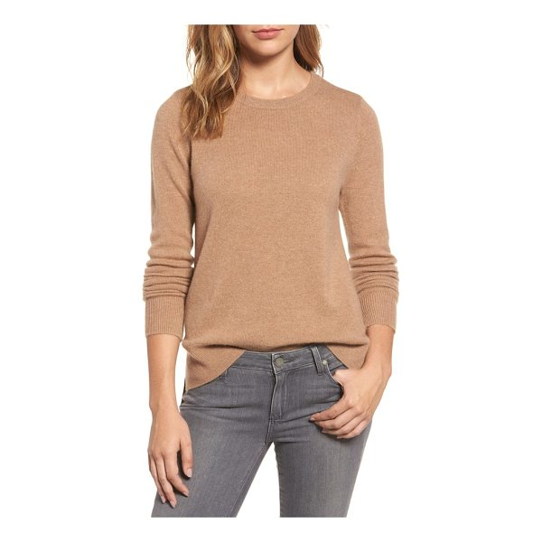 HALOGEN halogen crewneck cashmere sweater - Slip into the decadent softness of pure cashmere knit with...