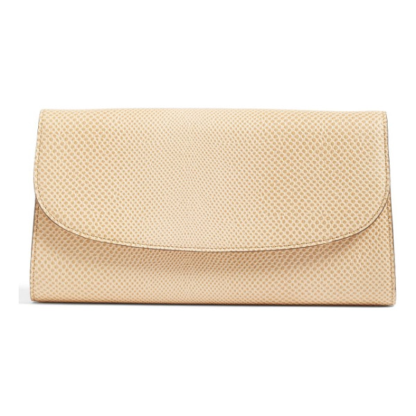 HALOGEN halogen curved flap leather clutch - Rich snakeskin-embossed leather composes a sophisticated,...