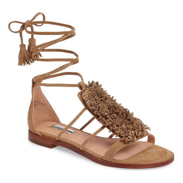 HALOGENR halogen eliza flat sandal - Lush fringe brings playful, festive dimension to a breezy