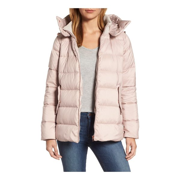 HALOGEN halogen hooded puffer jacket - Stay cozy and dry on chilly days in a plush puffer detailed...