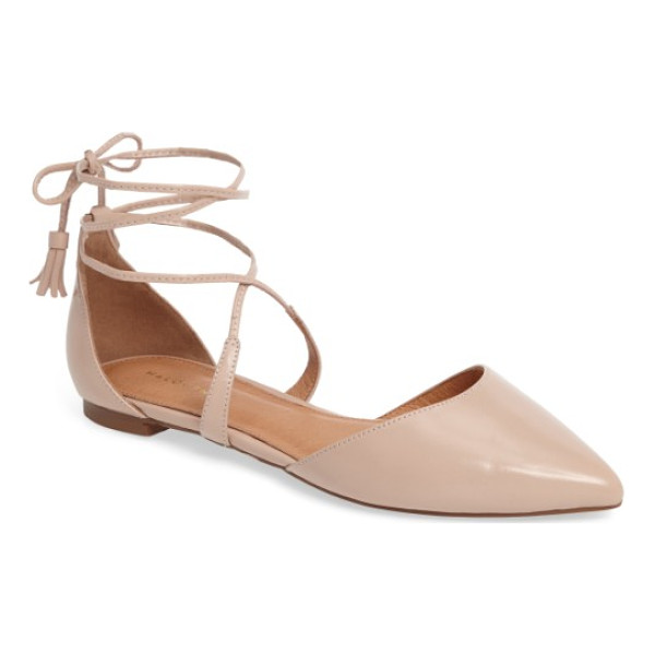 HALOGEN halogen oliver ankle wrap flat - A breezy d'Orsay flat with a pointed toe is secured by...