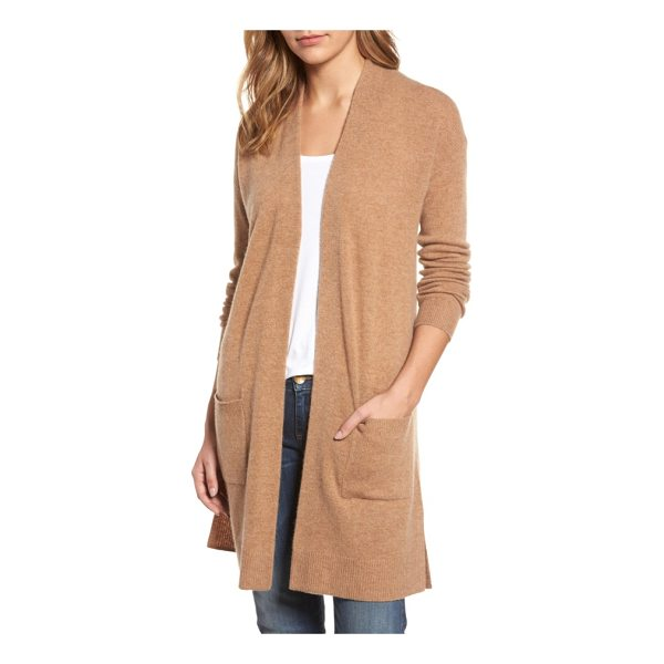 HALOGEN halogen rib knit wool & cashmere cardigan - A longline cardigan that layers beautifully over your...