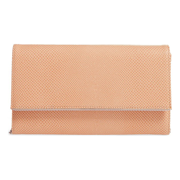 HALOGEN halogen textured leather convertible crossbody bag - Slim enough to tuck under your arm and carry as a clutch,...