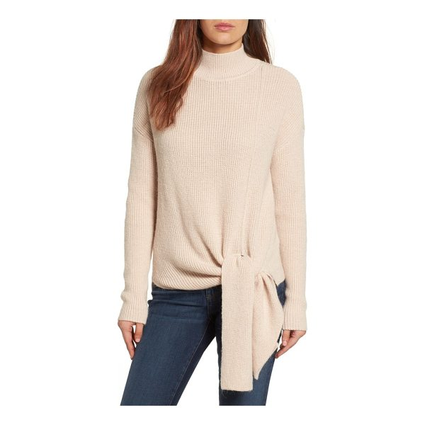 HALOGEN halogen tie hem sweater - A fall mainstay, the cozy turtleneck-this one with a touch...