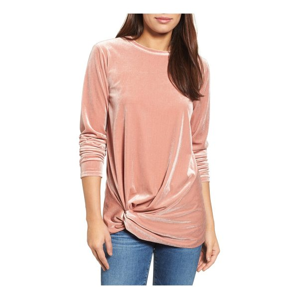 HALOGEN halogen twist front velvet top - Elevate your ensemble in this velvety-rich top featuring an...