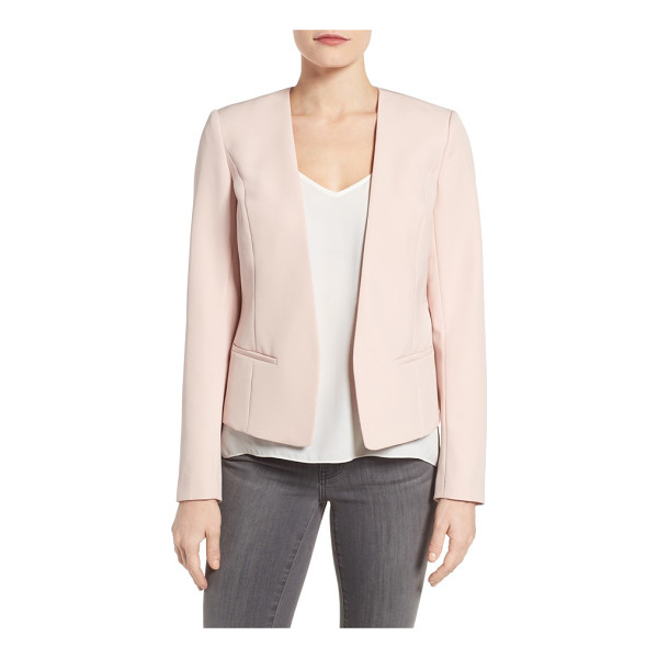 HALOGEN petite  halogen open front jacket - A polished jacket with streamlined styling and a peplum hem...