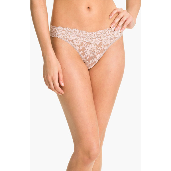HANKY PANKY cross dyed regular rise thong - Contrasting cross-dyed patterning lends rich, pretty depth...