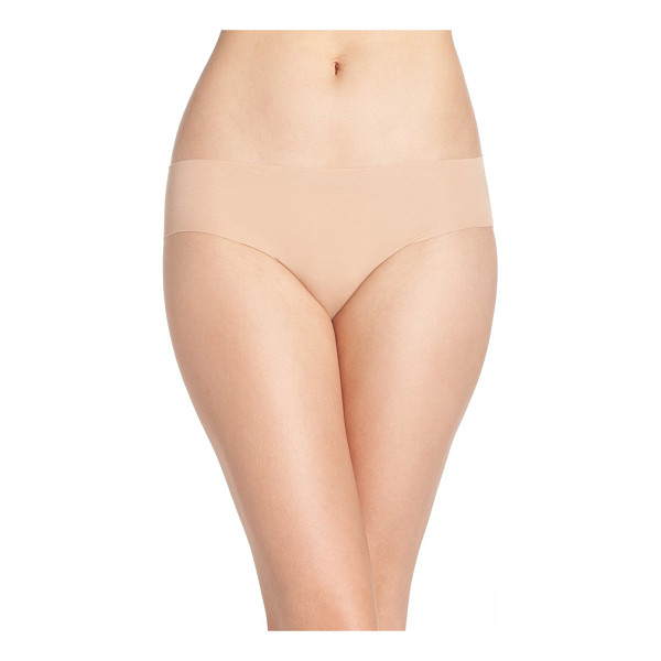HANRO invisible stretch cotton hipster panties - Light laser-cut fabric blends in under clothing and makes...