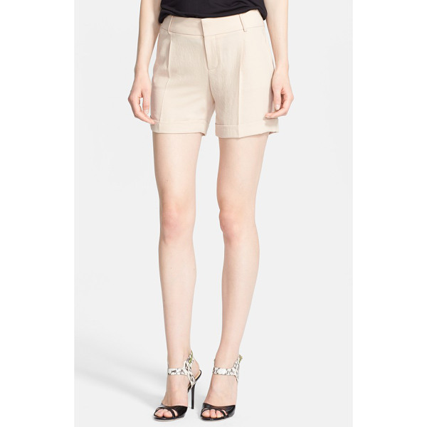 HAUTE HIPPIE cuff shorts - Decisive front pleats and rolled hems give crinkled shorts...