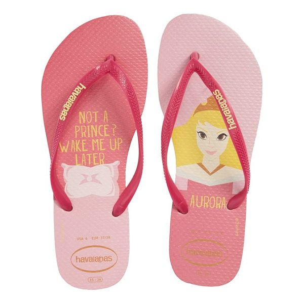 HAVAIANAS havaiana slim - Your favorite Disney princess patterns the footbed of a...