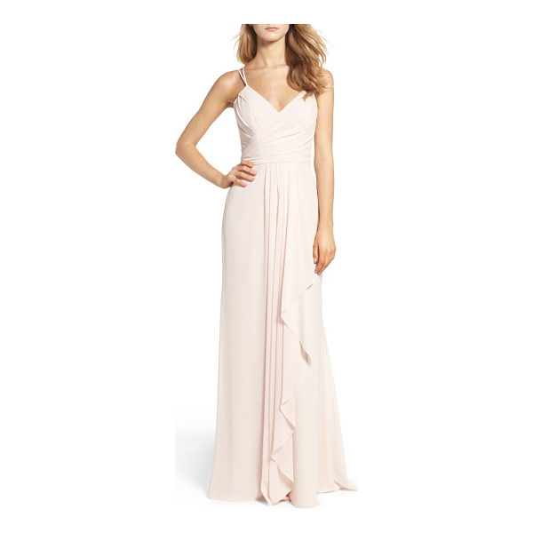 HAYLEY PAIGE OCCASIONS chiffon gown - Gorgeous gathers enhance curves and whittle the waistline...