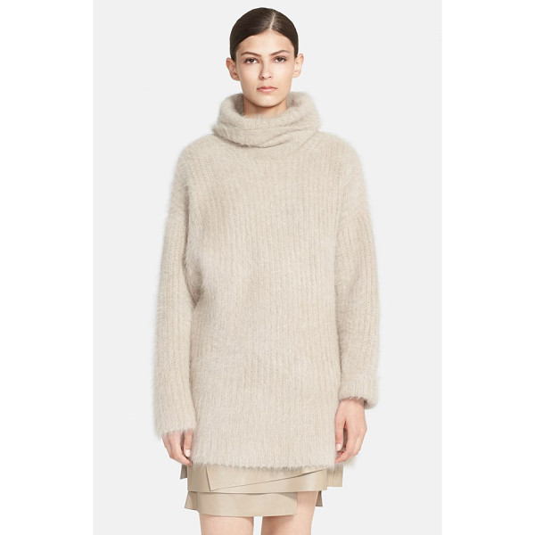 HELMUT LANG veneered angora blend turtleneck sweater - A slouchy turtleneck and dropped shoulders help shape the...