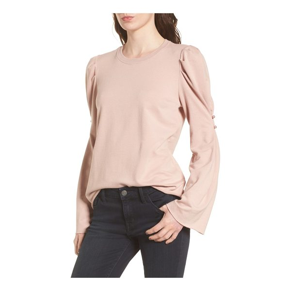 HINGE button detail top - Polished pearly buttons amp up the sweet charm of a soft...