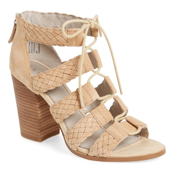HINGE desi block heel sandal - A block-heel sandal perfect for warm-weather outings offers