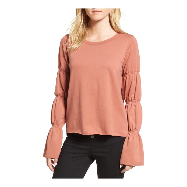 HINGE flare cuff sweatshirt - Update your sweatshirt collection with this pullover...