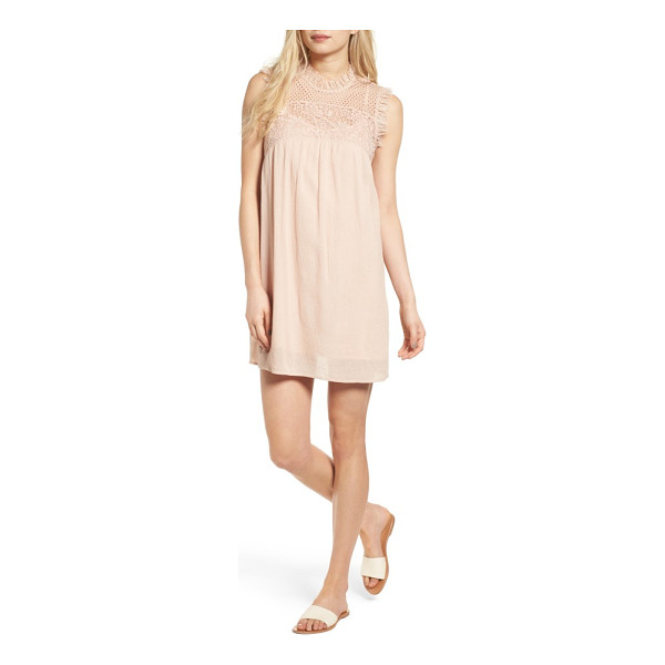 HINGE lace yoke babydoll dress - Frame your face with ultrafeminine lace in this sweet,...