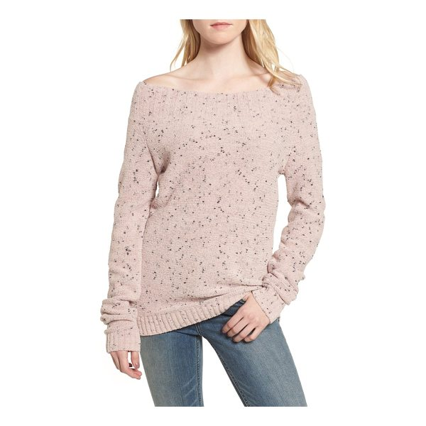 HINGE 'marilyn' sweater - A wide bateau neckline and drop-shoulder silhouette relax a...