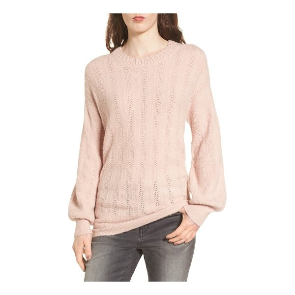 HINGE open back sweater - Cozy up in a pointelle-knit sweater crafted with a...