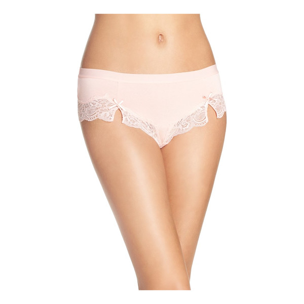 HONEYDEW INTIMATES hipster panties - Fun color and flirty lace upgrade comfy, everyday briefs.