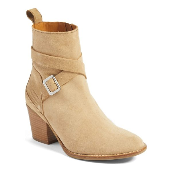 HUNTER refined water resistant strappy boot - A logo-embossed buckle secures the slim straps that wrap...