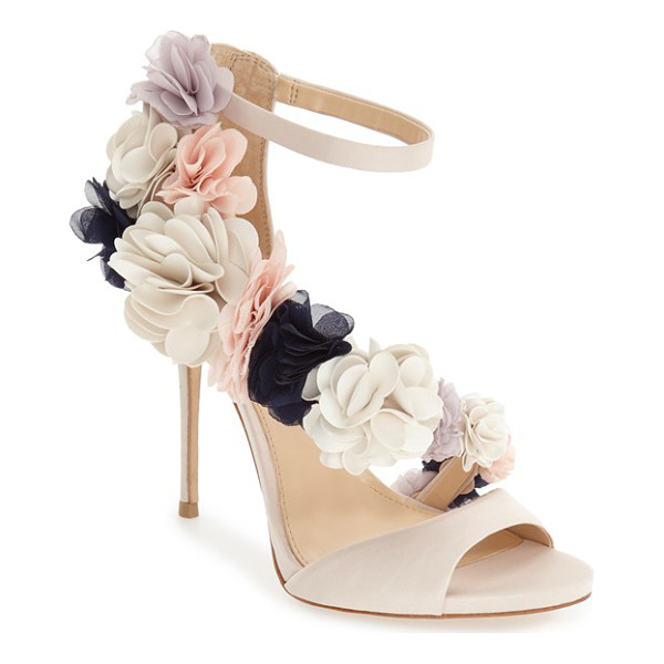 IMAGINE BY VINCE CAMUTO 'daphne' floral ankle strap sandal - A garden of exquisite flowers blooms from toe to heel along...
