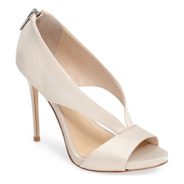 IMAGINE BY VINCE CAMUTO imagine vince camuto dailey open toe pump - Lustrous satin straps arc atop an elegant sandal lofted by