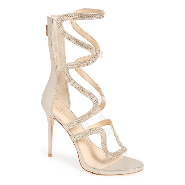IMAGINE BY VINCE CAMUTO imagine vince camuto 'dash' cage sandal - Curvy studded straps in a shimmery metallic finish add...