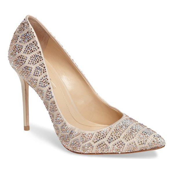 IMAGINE BY VINCE CAMUTO imagine vince camuto 'olivier' pointy toe pump - Geometric arrays of faceted crystals sparkle and shine on a...