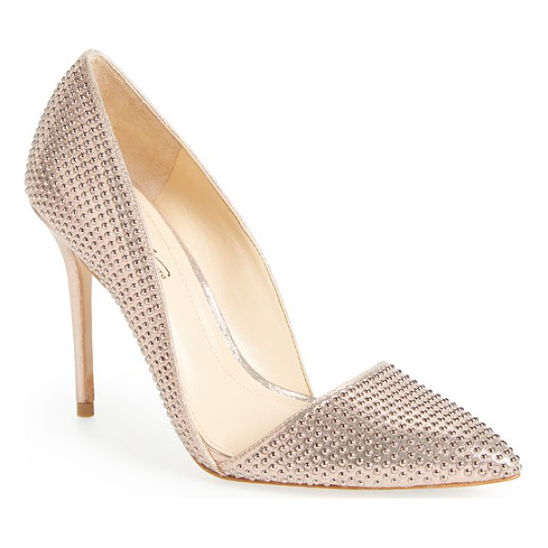 IMAGINE BY VINCE CAMUTO imagine vince camuto 'ossie' d'orsay pump - Tonal studs shimmer on a pointy-toe d'Orsay pump that...