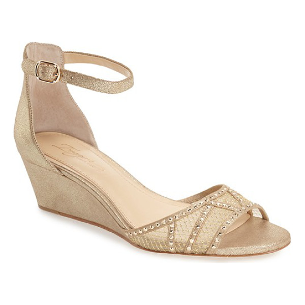 IMAGINE BY VINCE CAMUTO 'joan' studded wedge sandal - A stunning toe strap crafted from trellis-print mesh and...
