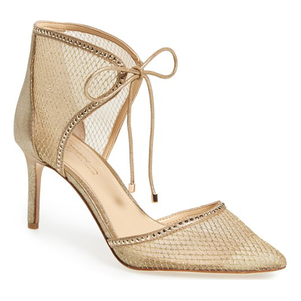 IMAGINE BY VINCE CAMUTO 'mark' mesh panel d'orsay pump - Tiny gleaming studs outline the d'Orsay pointy toe and...