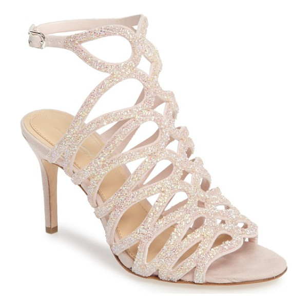 IMAGINE BY VINCE CAMUTO plash glitter cage sandal - Dramatic looping cage straps encrusted in entrance-making...