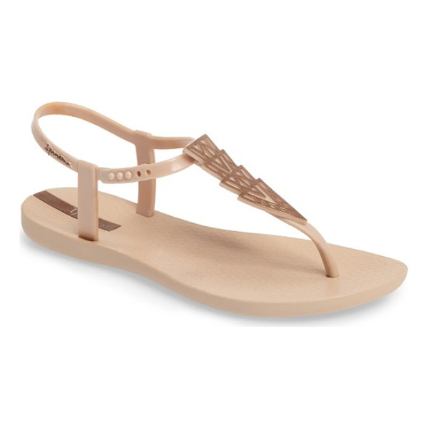 IPANEMA deco thong sandal - Gleaming Art Deco-inspired pyramids add instant glam to a...