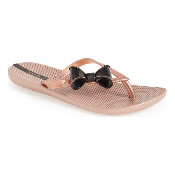 IPANEMA neo clara flip flop - A pretty bow tops a flexible, summer-ready flip-flop with a...
