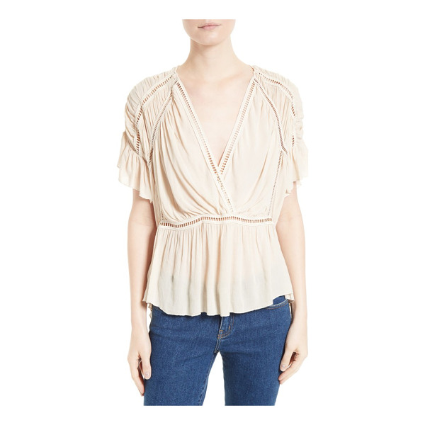 IRO lesly surplice blouse - Ladder-stitch insets add easy structure to a beautifully...