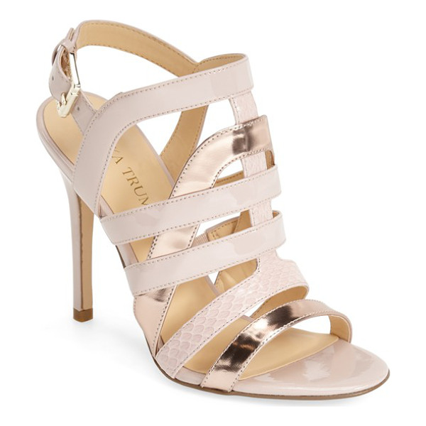 IVANKA TRUMP haslets strappy sandal - Take a walk on the wild side in this strappy caged sandal...