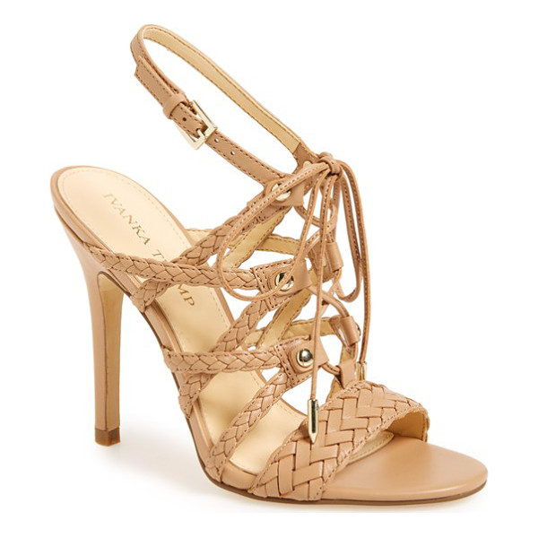IVANKA TRUMP hera sandal - Braided straps and slim, decorative laces add eye-catching...
