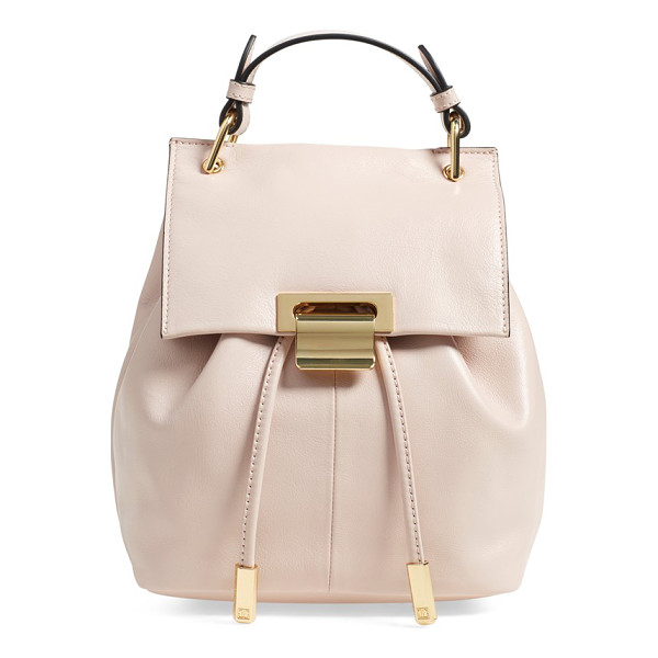 IVANKA TRUMP Mini turner leather backpack - This sophisticated backpack serves as an everyday statement...