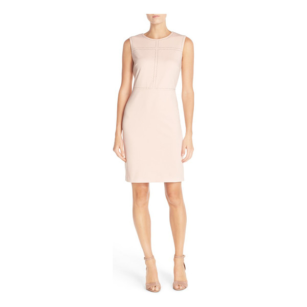 IVANKA TRUMP sleeveless sheath dress - Small rounded studs pattern the bodice of a sophisticated...
