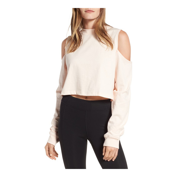 IVY PARK cold shoulder boyfriend tee - The perfect way to show off toned biceps while staying warm...