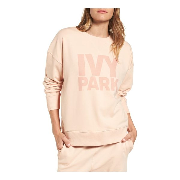 IVY PARK logo sweatshirt - Comfy ribbing and a stretchy cotton blend offer the...
