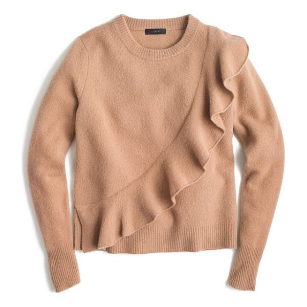 J.CREW j.crew harold ruffle boiled wool sweater - This supercute sweater is also super cozy thanks to warm...