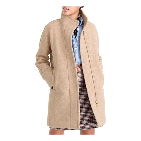 J.CREW j.crew stadium cloth cocoon coat - A cozy cocoon coat delivers warmth without bulk, thanks to...