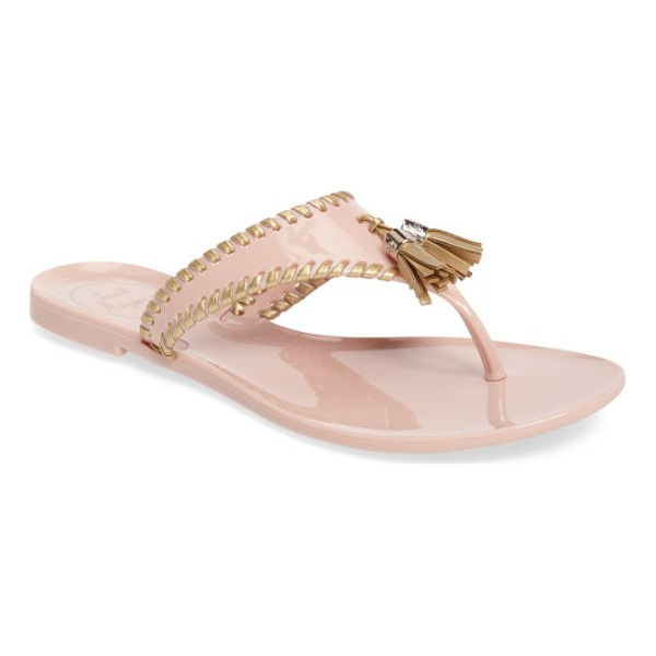 JACK ROGERS alana waterproof flip flop - Playful tassels and whipstitched edging bring casual appeal...